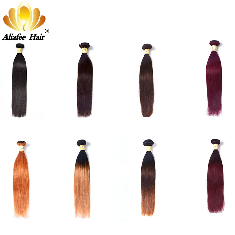 Ali Afee مو مستقیم انسان برزیل 1Pc فقط بسته - موی انسان (برای سیاه)