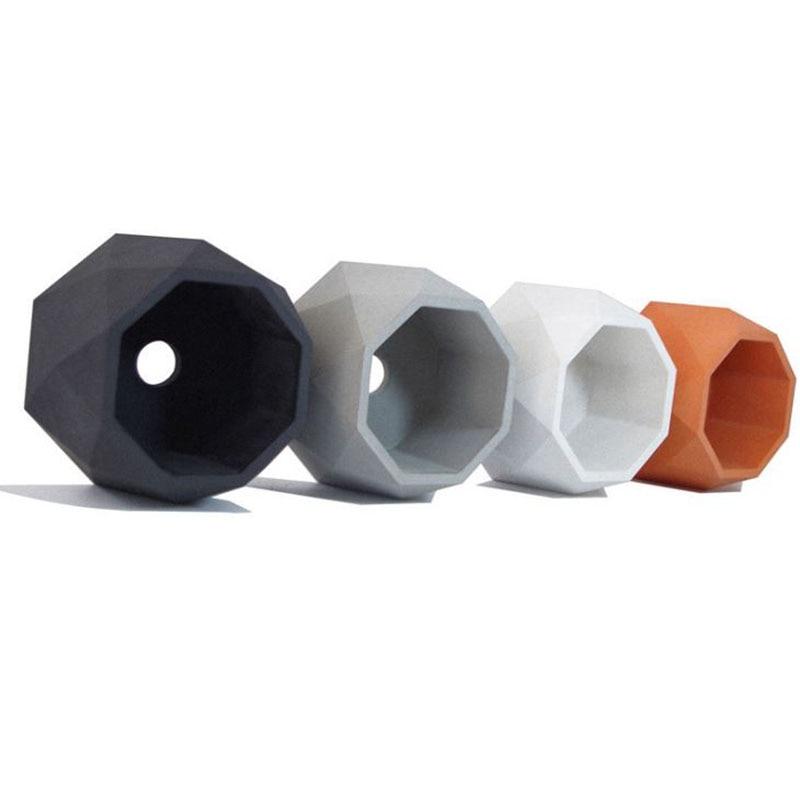 3D Flower Pot Molds Geometry Vase Molds Concrete Planter Molds Triangle Pot Moulds