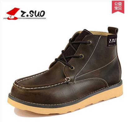 Zsuo de trend van mannelijke laarzen herfst en winter populaire mannen tooling laarzen mode schoenen zs123-in Motorolie van Schoenen op  Groep 1