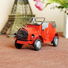 Free shipping (3pcs/lot) Multicolor mini retro car model Vintage Handmade metal craft fashion home/Pub decoration wedding gift