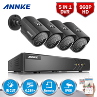 ANNKE 960P 8CH TVI CVI AHD 1 3MP Waterproof Cameras With 1080P Lite 5in1 DVR Outdoor