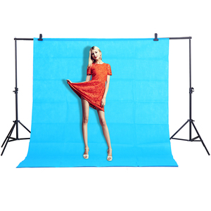 Image 1 - CY Hot sale Blue color Photo background cloth 1.6*3M/5*10FT Photography Studio Non woven Backdrop Screen shooting portraits