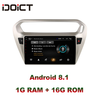 IDOICT Android 8.1 Car DVD Player GPS Navigation Multimedia For peugeot 301 Citroen Elysee Radio 2013 2016