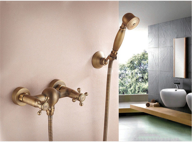 Vasca Da Bagno Montaggio : Bagno d epoca doccia a parete montaggio superficiale in ottone