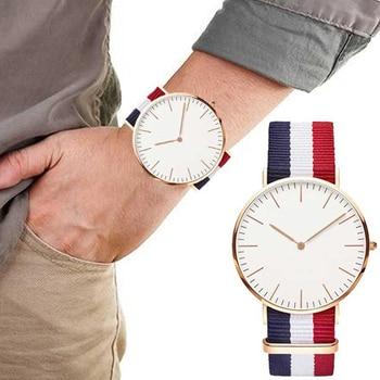 4055744f2f33 Мужские s минималистичные часы нейлон Женские часы лучший бренд класса люкс  D W стиль Relogio Masculino унисекс подарки для мужчин Montre Homme 2019