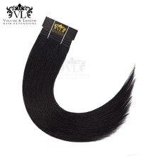 VL Black 50g/pc Remy Human Hair Weft Dark Brown European Straight Extension Strawberry Blonde Weaves Bundles Free Shipping