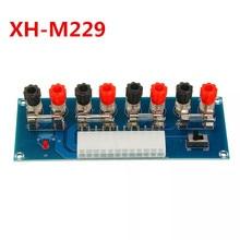 XH M229 מחשב שולחני מארז כוח ATX העברת כדי מתאם לוח אספקת חשמל לשקע מעגל מודול 24Pin פלט מסוף 24 סיכות