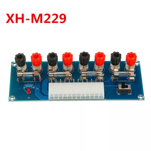 Image 1 - XH M229 데스크탑 pc 섀시 전원 atx 전송 어댑터 보드 전원 공급 장치 회로 콘센트 모듈 24 핀 출력 터미널 24 핀