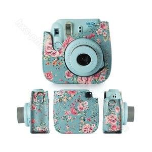 Image 3 - Fujifilm Instax Mini Camera Case Quality PU Leather Shoulder Bag with Strap for Fuji Instax Mini 9, Instax Mini 8 Camera