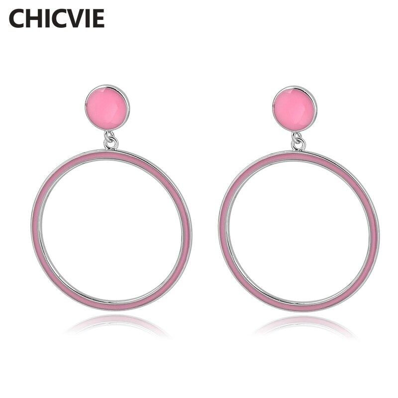 Купить chicvie модные ювелирные изделия высокого качества золотые серьги