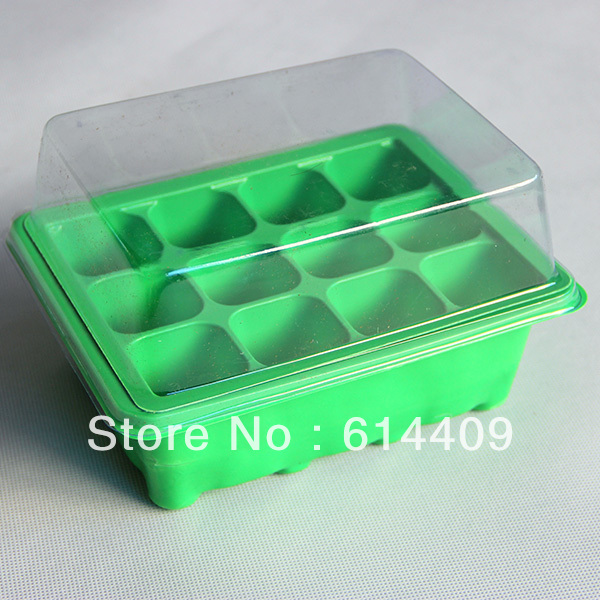 Free Shipping Diy Nursery Pot Tray With Clear Cover Plastic Seed Starting Trays