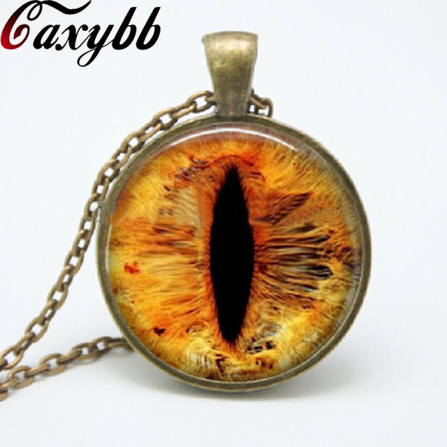 1pcs dragon eye pendant necklace cat eye glass photo pendants 1pcs dragon eye pendant necklace cat eye glass photo pendants necklaces vintage diy art jewelry gift aloadofball Images