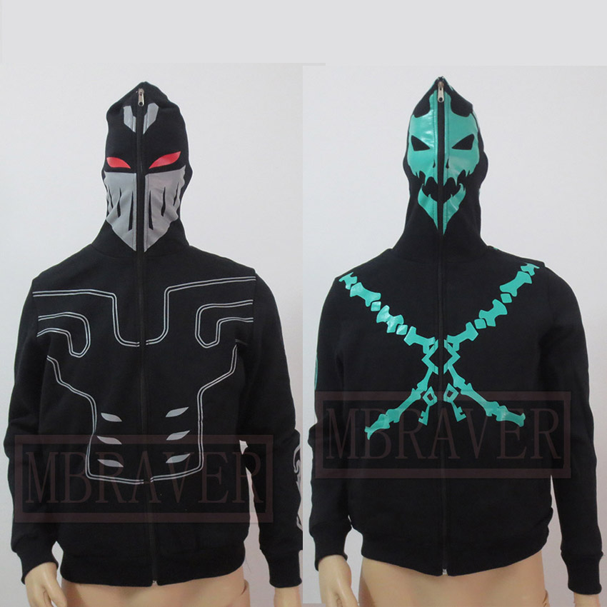 LOL the Chain Warden Thresh And Zed Coat Jackets Cosplay Costume