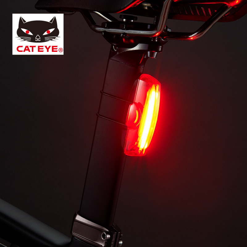 CATEYE TL LD700 Rapid X Cycling Light Bicycle Front Light MTB Road Bike Rear Lamp 16LED&USB Incredible Side Visibility 2Colors