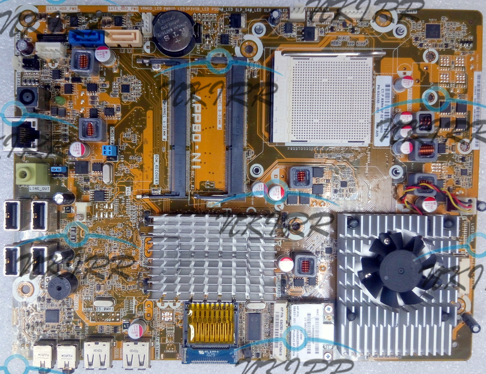 618067-001 634280-001 APP80-NI REV 1.03 512M VRAM MotherBoard SYSTEM BOARD for HP Omni 100 100-5000 100-5100 100-5118cx 5111cx