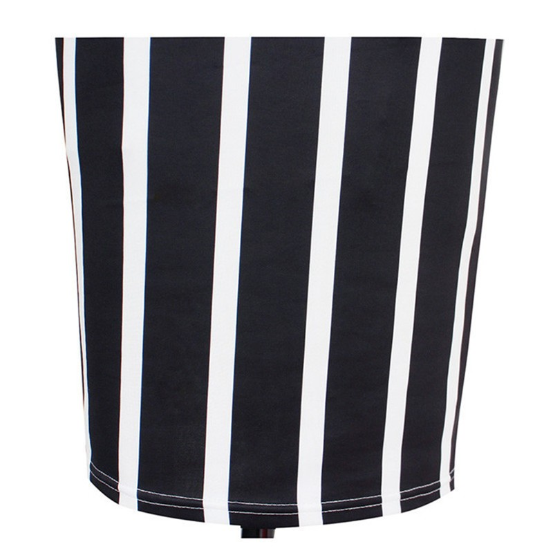 New Women Vertical Striped Fitness Bodycon Dresses Work Style Sexy Short Sleeve Sheath Office Midi Summer Dress Plus Size DWA23 (4)