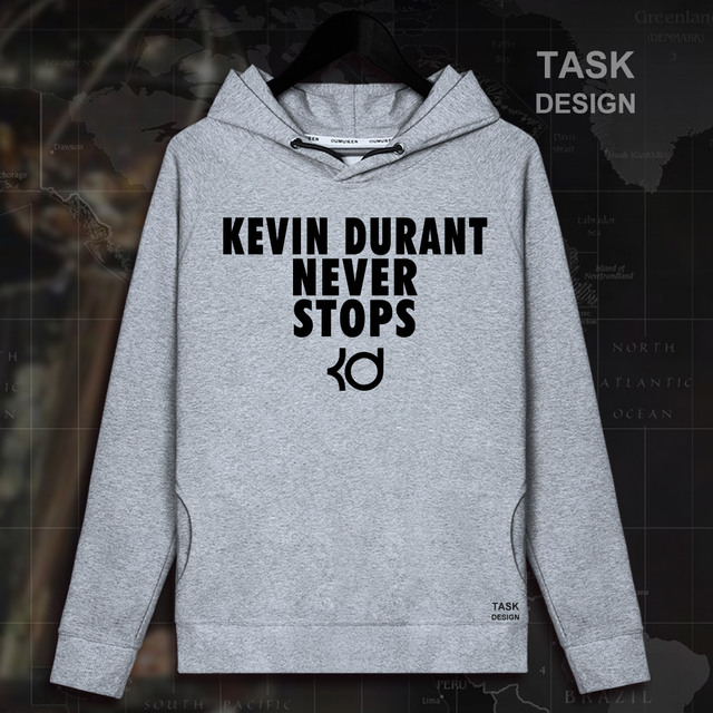 premium selection c9171 998d4 US $15.99 |Kevin Durant Golden State men pullovers hoodies sweatshirt  Warriors clothes streetwear tracksuit USA basketballer never stops 02-in  Hoodies ...