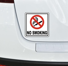 14x14cm NO SMOKING warning colorful car sticker funny auto automobile car stickers new hot selling car styling no smoking logo stickers car stickers dropshipping