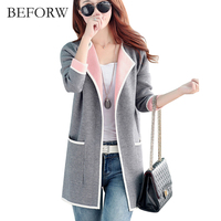 BEFORW 2017 New Women Coat Womens Casual Jackets Clothing Solid Jacket Women S Winter Coa Long