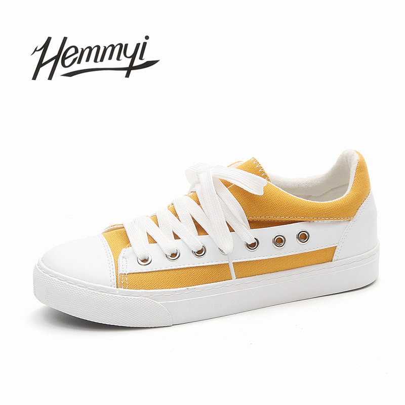 Hemmyi New arrival fashion female shoes lace-up tenis feminino Adorable women casual shoes canvas women sneakers girls ulzzang e lov new arrival luminous canvas shoes graffiti pisces horoscope couples casual shoes espadrilles women
