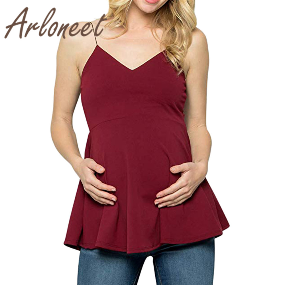ARLONEET Clothes womens maternity Tops Cotton Strap V neck T shirt Large size Solid Nusring Tops Summer ladies pregnanct clothesARLONEET Clothes womens maternity Tops Cotton Strap V neck T shirt Large size Solid Nusring Tops Summer ladies pregnanct clothes