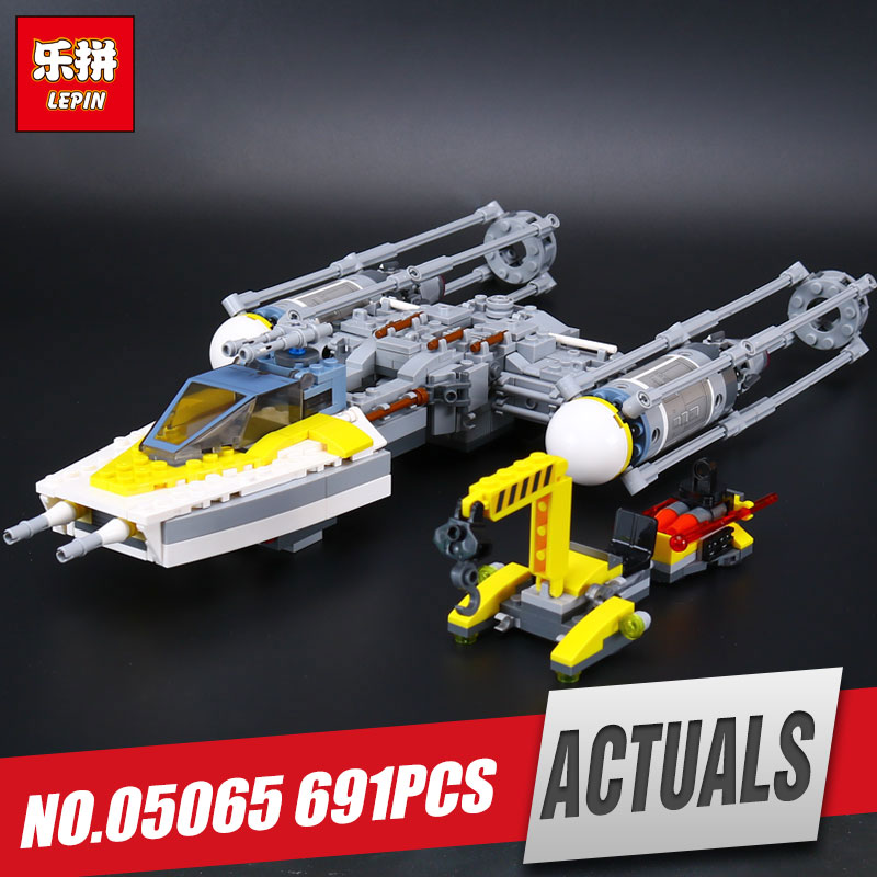 Lepin 05065 691Pcs New Genuine Star Series The Y toy wing fighter Set Building Blocks Bricks Educational War Toys Gift 75172 black pearl building blocks kaizi ky87010 pirates of the caribbean ship self locking bricks assembling toys 1184pcs set gift