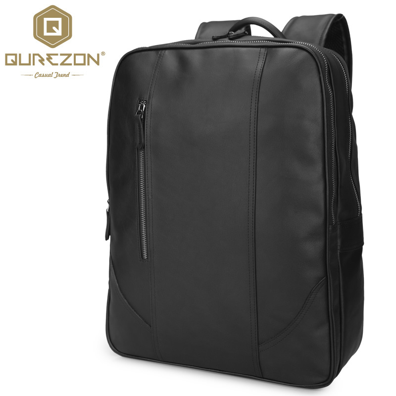 Brand Designer Men Genuine Leather Laptop Backpack 17.3Inch Rucksack Top Quality Travel Backpack Men Notebook Computer Bag Black s c cotton brand backpack men good quality genuine leather