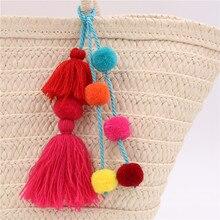 Colorful Boho Pom Pom Tassel Keychain
