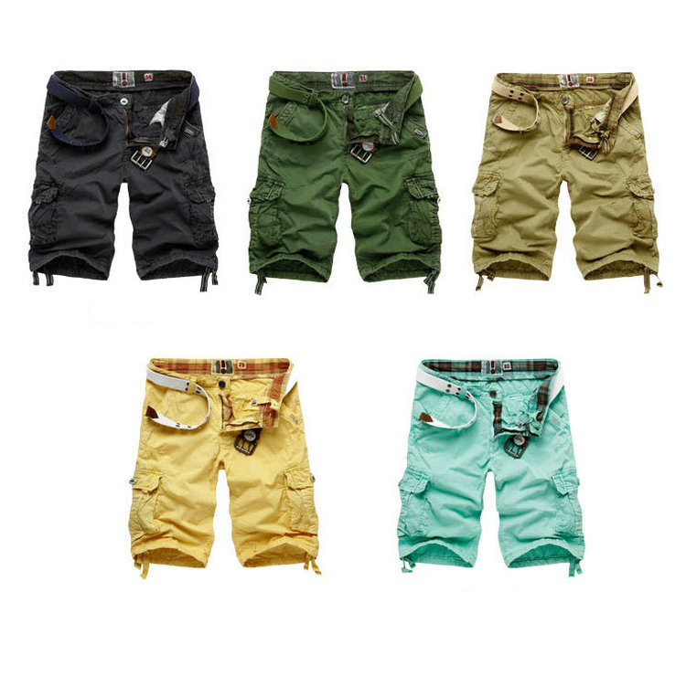 NWT Men's Casual Cargo Shorts Capri Pirate Bermuda Short Pants ...