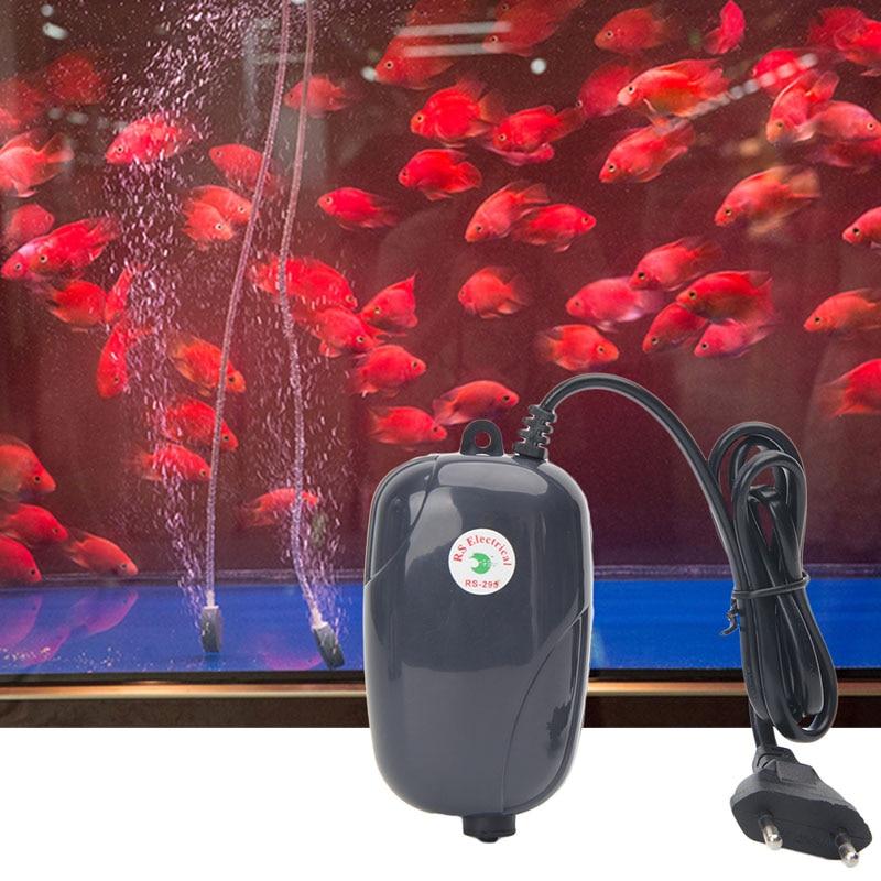 3W 5W Aquarium Oxygen Fish Air Pump Tank Silent EU Plug Single Double Hole