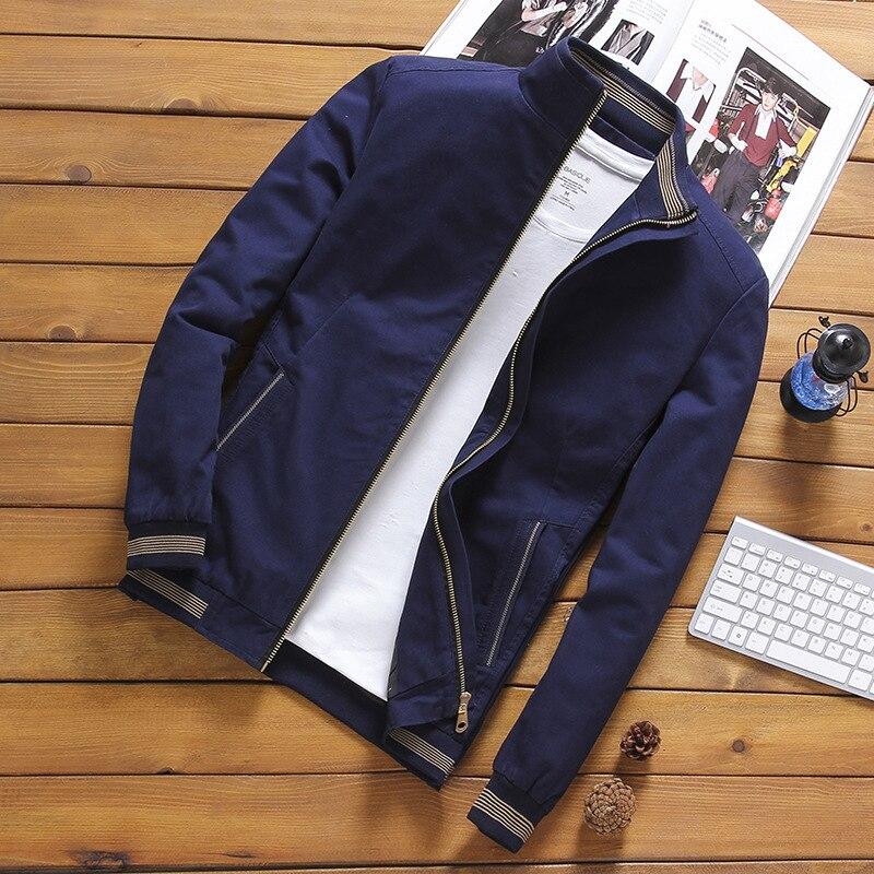 Мужская ветровка со стоячим воротником dimsi, повседневная облегающая бейсбольная куртка с воротником, 5XL,YA810, на весну-осень