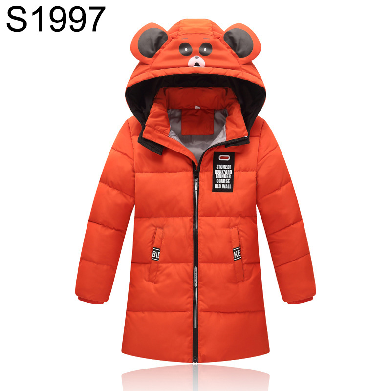 4-10 Years Children White Duck Down Coat Boys Girls Long Down Jackets Parkas Winter Warm Patchwork Outerwear Kid Hooded Clothes long black girls down coat winter solid 80% white duck down fur hooded fashion pink for 10 12 14 years grils outerwear