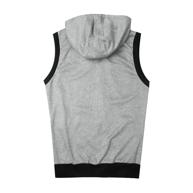 FS Hot Spring Autumn UK style Zipper design hooded Vest men wine casual slim fit hooded Waistcoat for men M-XXL 3 Colors