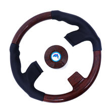 3/4 inch Shaft Boat Wooden Retro Steering Wheel, 3 Spokes Steering Wheel for Marine Boat Yacht 360mm aluminum alloy marine boat sport steering wheel 4 spoke 3 4 shaft for canoe kayak inflatable boat replacement accessories
