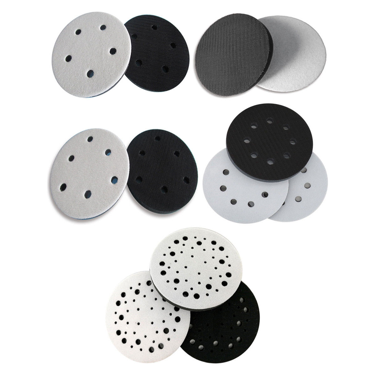 1-10Pcs 5 Inch 125mm Soft Sponge Interface Pad For Sander Backing Pads Hook&Loop Sanding Discs Abrasive Tools