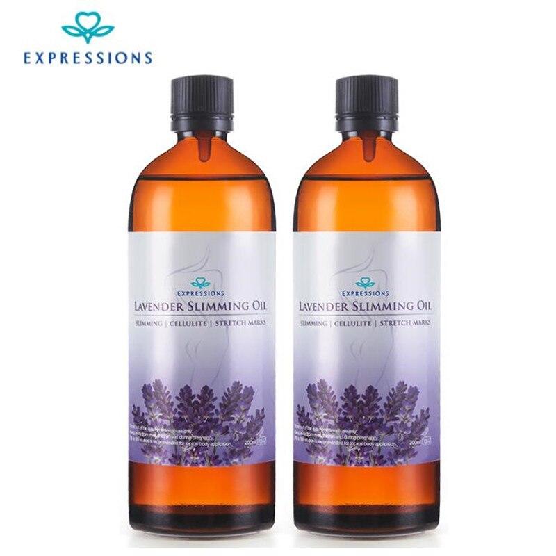 2 bouteille * 200 ml Australie Puissant Effet Perdre Du Poids Huiles Essentielles Mince Jambe Taille Combustion Des Graisses Sécurité Naturelle Minceur huile de Massage