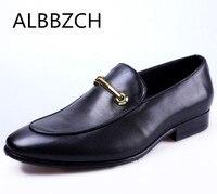 Comfortable Genuine Leather Dress Men Shoes Slip On Wedding Shoes Men's Luxury Design Business Office Work Men Shoes Size 38 44