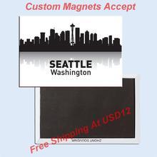 Washingdon Seattle Skyline Souvenir Fridge Magnets 20269;USA Travel Magnets Gifts 78*54*3mm