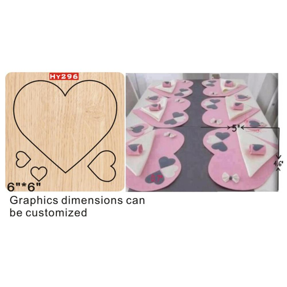 Love table mat cutting dies 2019 die cut & wooden dies Suitable for common die cutting machines on the market