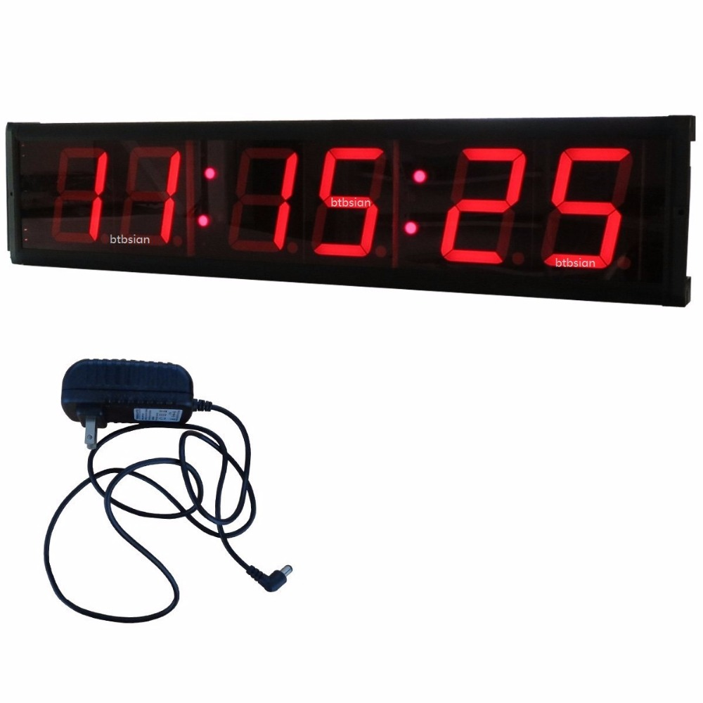 4inch Mmsscc Led Countdown Clock Hundreths Of A Second Millisecond 7 Segment Count Down Alarm Timer Jumbo Stopwatch In Wall Clocks From Home Garden On