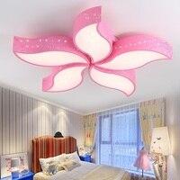 Acolhedor e romântico lâmpada do teto luzes da sala de estar varanda do quarto de ferro cor 4/5 luzes luminária de Teto folha
