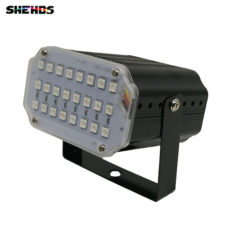 LED 24x1W RGB Strobe Flash Light 24 Led LED Stage Light DJ Disco Strobe(speed Can Be Adjusted) Flash Light For Family Party KTV