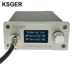 Image 5 - Ksger白厚パネルSTM32 oled T12 はんだステーション温度デジタルコントローラhakko T12 電気はんだごて