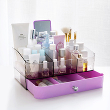 Drawer Type Cosmetic Storage Box Office Transparent Shelf Dresser Desktop Multi-layer Plastic Case