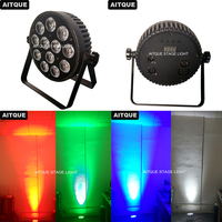 8pcs Dj stage equipment led mini par rgbw 12x8w dmx led slim par can wash light