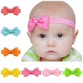 20pcs/lot Baby Girl Small Bow Tie Headband DIY Grosgrain Ribbon Bow Elastic Hair Bands For Infant Toddler Hair Accessories 644