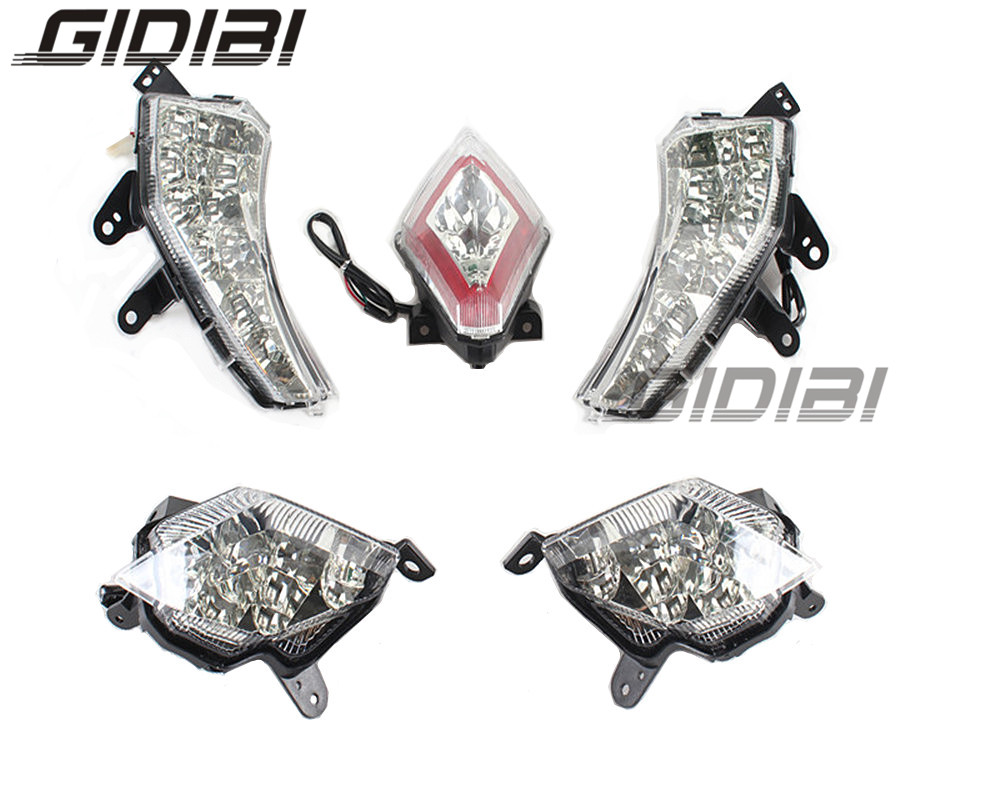 LED Front & Rear Turn Signals Indicator Light With Rear Brake Tail Lamp For Yamaha T MAX 530 Tmax 530 2012 2015 12 13 14 15