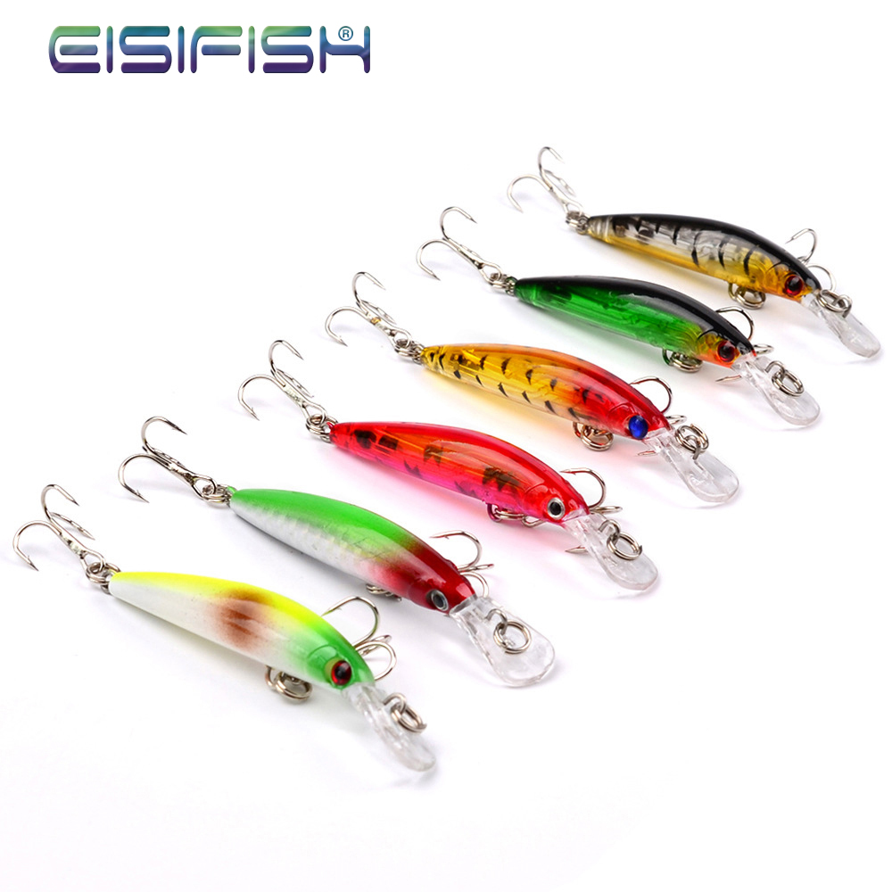 Freshwater fish bait - 6 Color Mini Mino 7cm Road Bait 3 9g Freshwater Fish Bait Qiaozui Lore Electric