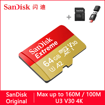 SanDisk Extreme Micro SD 128GB 32GB 64GB 256GB 400GB U3 V30 Memory Card 32 64 128 GB Micro SD Card SD/TF Flash MicroSD for Phone