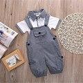 2 PCS Set Bebê Criança Crianças Meninos Roupas T-shirt Tops + Calça Roupas Playsuit Bodysuit Infantil Roupas de Bebê Menino Roupas